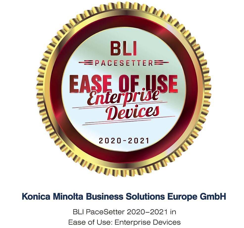 Konica Minolta premiată pentru ușurința de utilizare a dispozitivelor sale_1