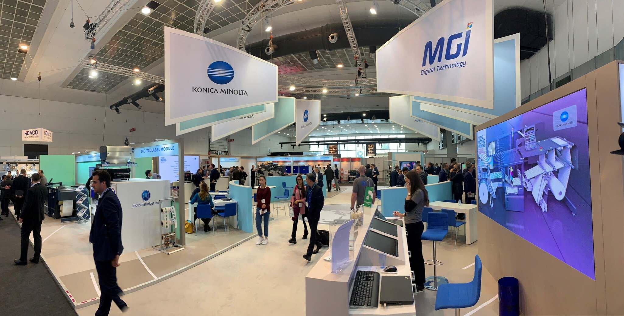 Konica Minolta e MGI a Labelexpo image 2