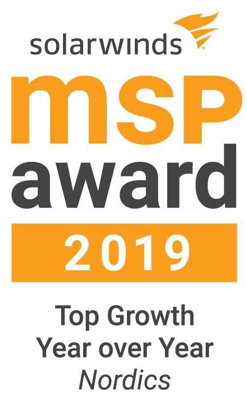 SolarWinds MSP Awards 2019 logo