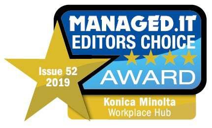 Managed.IT Editors Choice award 2019 - Workplace Hub