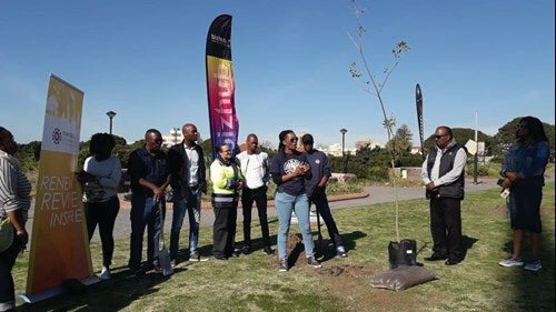 Konica Minolta's branch in Port Elizabeth and FTFA will be planting a total of 601 trees around the metro – at The Donkin Reserve, St Dominic's Priory, and 16 other schools, offsetting an estimated 221 tons of carbon-dioxide equivalent (CO2e).