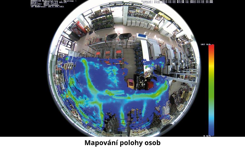 Mapování pohybu osob