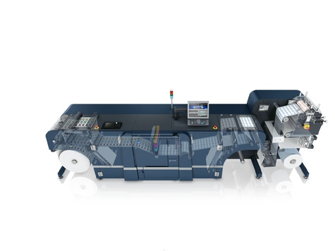 AccurioLabel 230 + Flexo Printing Unit paper path picture