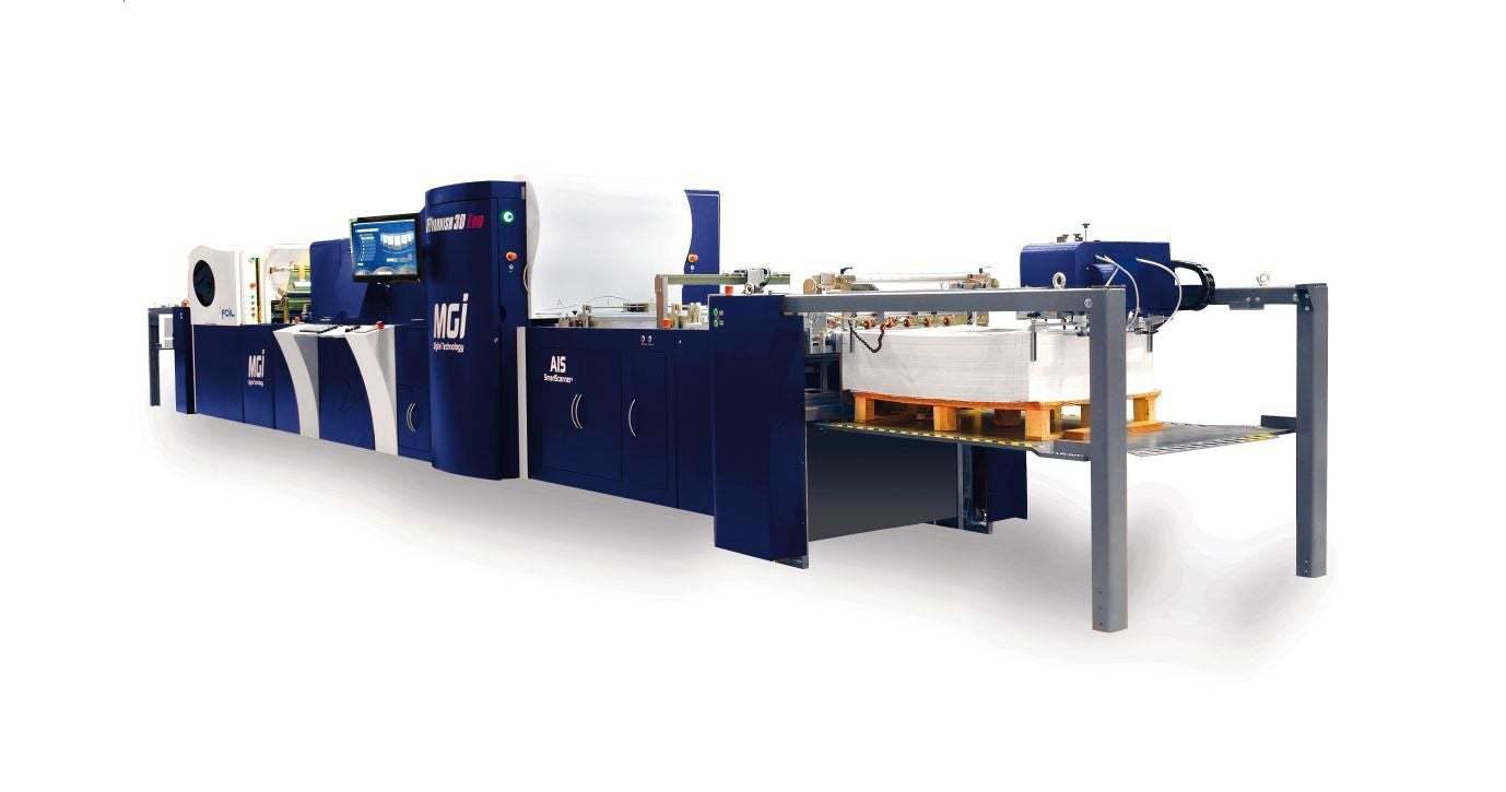 Profesionální tiskárna MGI JetVarnish 3D Evo