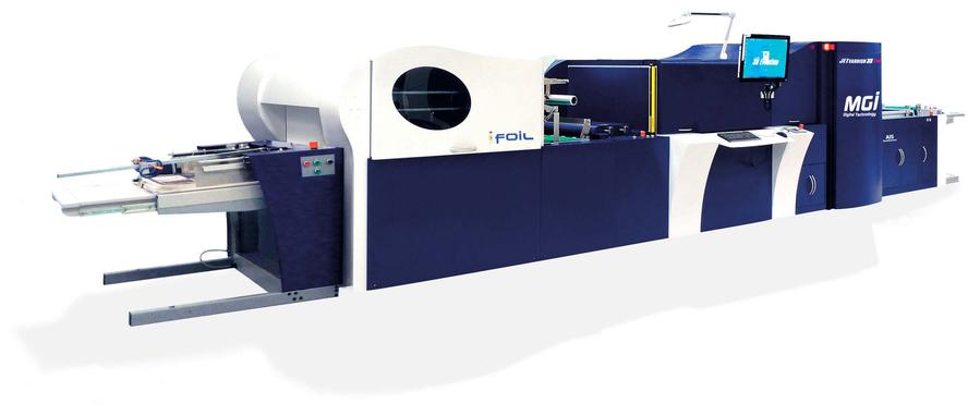 MGI jetvarnish 3D Evo professional printer