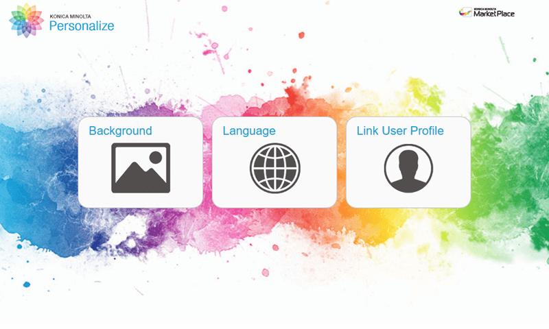 Konica Minolta Personalize Screenshot apps