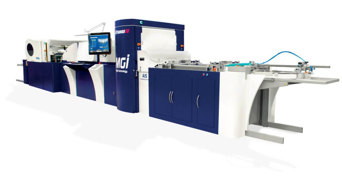 MGI JETvarnish 3D varnishing and foiling professional printer