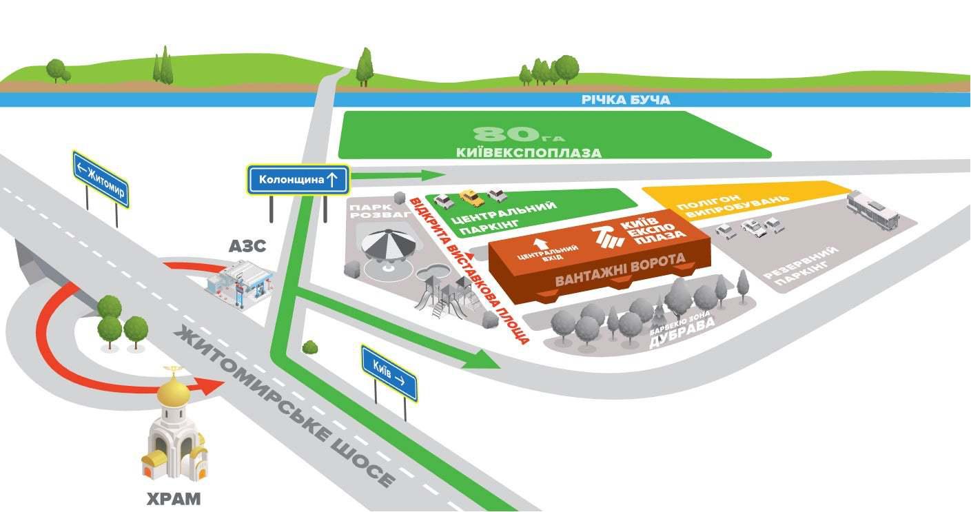 План-схема КиївЕкспоПлаза